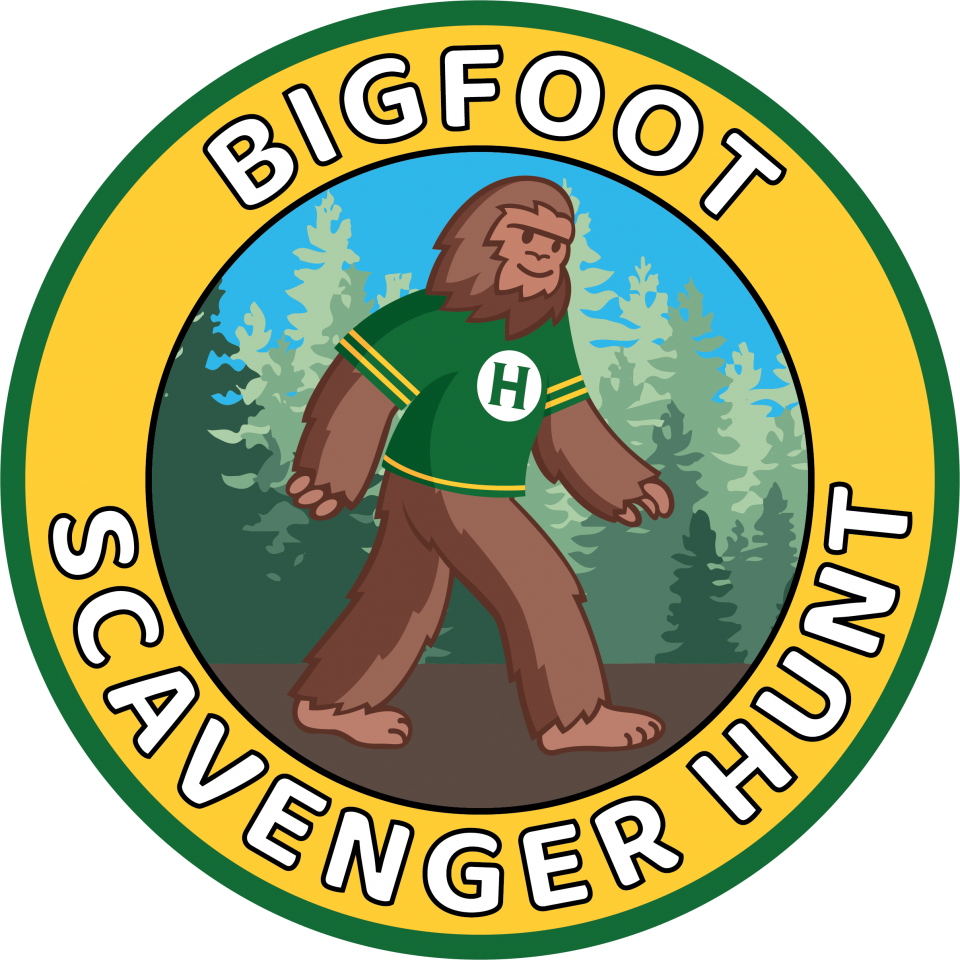 Bigfoot Scavenger Hunt. [Image of Bigfoot]: Click to link to Scavenger Hunt Form